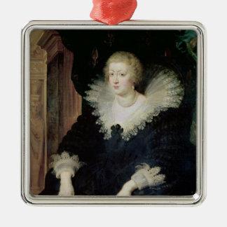Portrait of Anne of Austria  c.1622 Silver-Colored Square Decoration