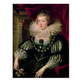 Portrait of Anne of Austria  Infanta of Spain Postcard
