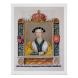 Portrait of Anne of Cleves (1515-57) 4th Queen of Poster