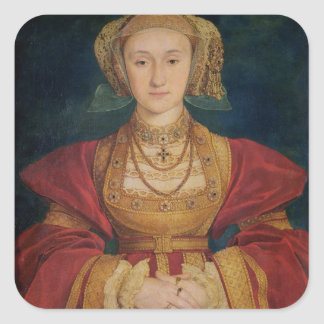 Portrait of Anne of Cleves  1539 Square Sticker