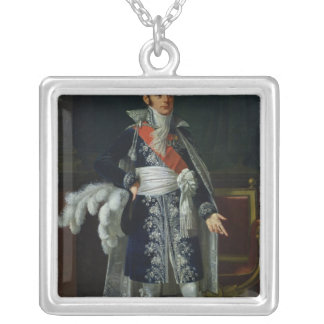 Portrait of Anne Savary  Duke of Rovigo, 1814 Silver Plated Necklace