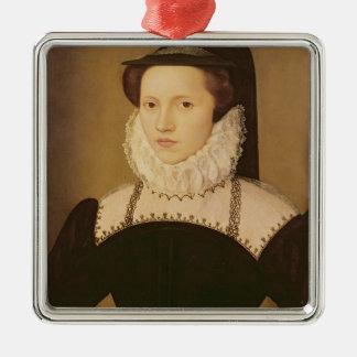 Portrait of Anne Waltham, 1572 Silver-Colored Square Decoration