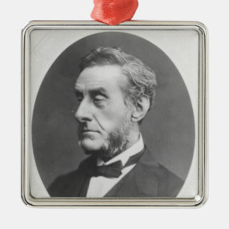 Portrait of Anthony Ashley Cooper Silver-Colored Square Decoration
