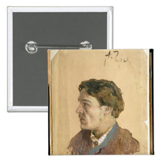 Portrait of Anton Chekhov 15 Cm Square Badge