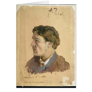 Portrait of Anton Chekhov Card