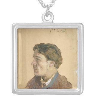Portrait of Anton Chekhov Square Pendant Necklace