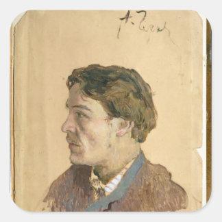 Portrait of Anton Chekhov Square Sticker