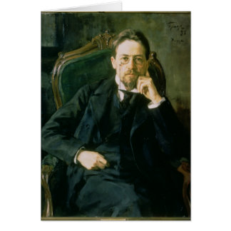 Portrait of Anton Pavlovich Chekhov, 1898 Card