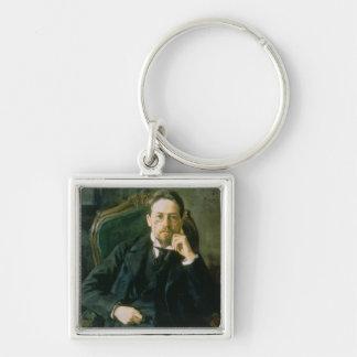 Portrait of Anton Pavlovich Chekhov, 1898 Key Chain
