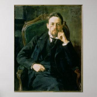 Portrait of Anton Pavlovich Chekhov 1898 Poster