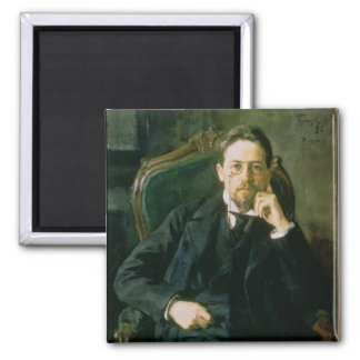 Portrait of Anton Pavlovich Chekhov, 1898 Square Magnet