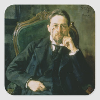 Portrait of Anton Pavlovich Chekhov, 1898 Square Sticker