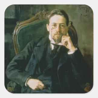 Portrait of Anton Pavlovich Chekhov 1898 Stickers