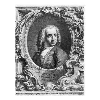 Portrait of Antonio Canaletto Postcard