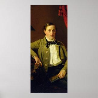 Portrait of Apollon Maykov, 1840 Poster