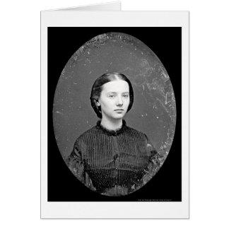 Portrait of Augusta Field Daguerreotype 1862 Card