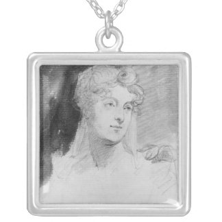 Portrait of Augusta Leigh Silver Plated Necklace