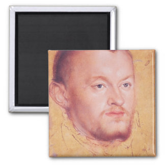 Portrait of Augustus I  Elector of Saxony Square Magnet