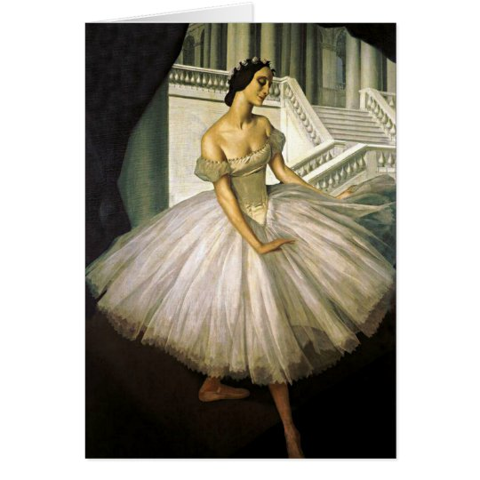Portrait of Ballerina Anna Pavolva Card