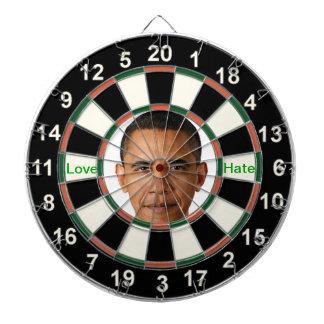 Portrait of Barack Obama Dartboard