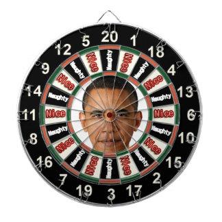 Portrait of Barack Obama political dart board