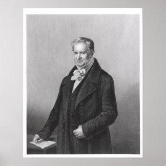 Portrait of Baron Alexander von Humboldt Print
