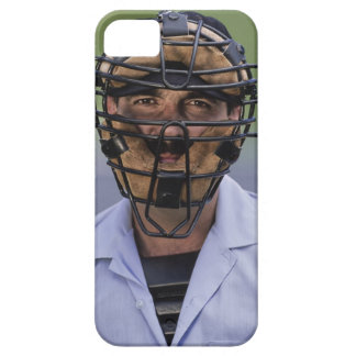 Portrait of baseball umpire wearing protective iPhone 5 covers