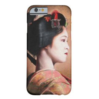 Portrait of beautiful Geisha painting Barely There iPhone 6 Case