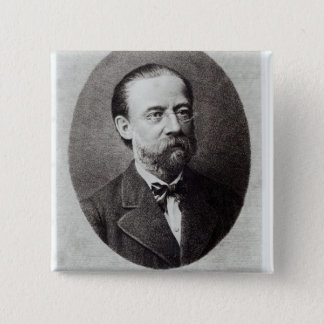 Portrait of Bedrich Smetana 15 Cm Square Badge