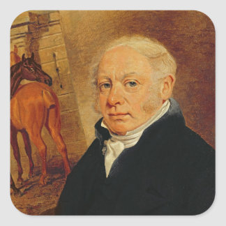 Portrait of Ben Marshall (1767-1835) (oil on canva Square Stickers
