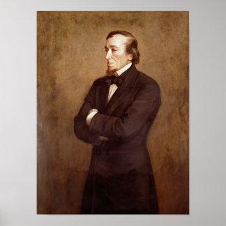 Portrait of Benjamin Disraeli Posters