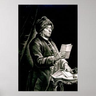 Portrait of Benjamin Franklin, 1777 Poster