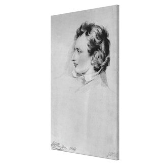 Portrait of Benjamin Robert Haydon Canvas Print