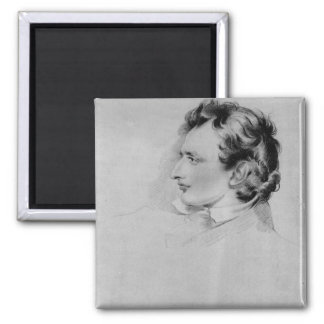 Portrait of Benjamin Robert Haydon Square Magnet