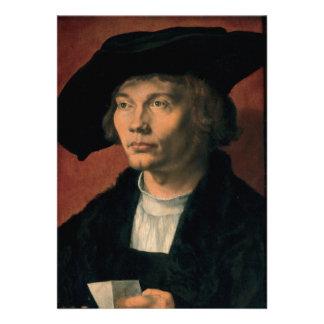 Portrait of Bernard von Reesen by Durer Personalized Invitation