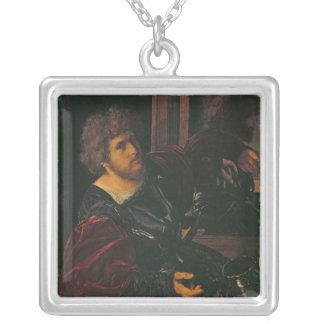 Portrait of Bernardo di Salla Silver Plated Necklace