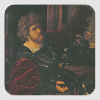 Portrait of Bernardo di Salla Square Sticker