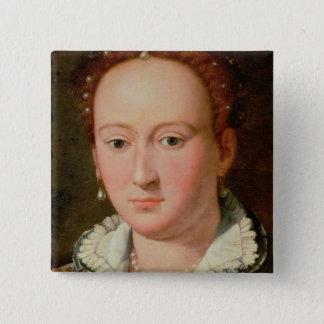 Portrait of Bianca Cappello, c.1580 (oil on copper 15 Cm Square Badge