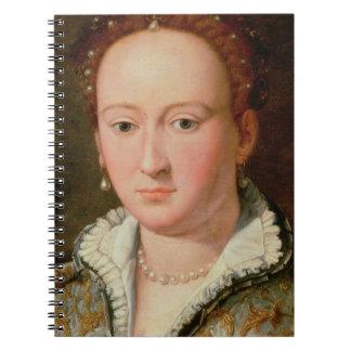 Portrait of Bianca Cappello, c.1580 (oil on copper Notebooks