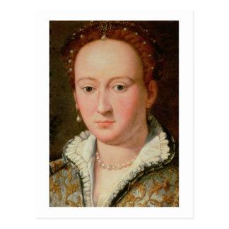 Portrait of Bianca Cappello, c.1580 (oil on copper Postcard