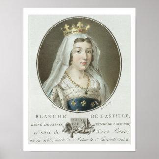 Portrait of Blanche de Castille (1185-1252) engrav Poster