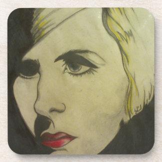 Portrait of Blond Coasters