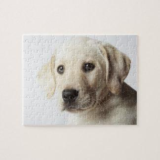 Portrait of blond Labrador Retriever Puppy Jigsaw Puzzle