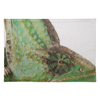 Portrait of boldly colored Yemen chameleon Placemat