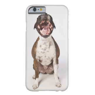 portrait of boxer dog yawning barely there iPhone 6 case