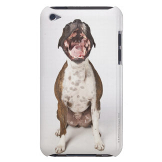 portrait of boxer dog yawning barely there iPod cases