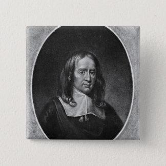 Portrait of Bruno Ryves 15 Cm Square Badge