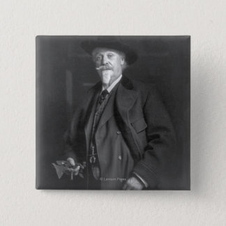"Portrait of ""Buffalo Bill"" Cody 15 Cm Square Badge"