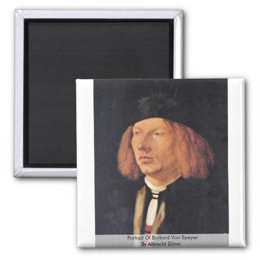 Portrait Of Burkard Von Speyer By Albrecht Dürer Magnets