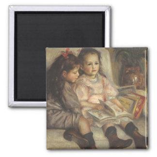 Portrait of Caillebotte Children by Pierre Renoir Magnet